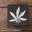 Black Tribal leaf Weed Box Stoner Gift Cannabis 420 engraved stash box