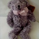 "small collectible 7"" Lavendar Bear Heartfelt Collectible 1999"