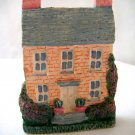 Miniature Plaster 3-D Brick Colonial house + magnet
