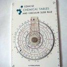 Concise Chemical Table Circular Slide Rule Sama & Etani