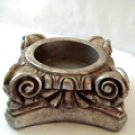 Plaster Doric Column Capital Stand or Candle Holder