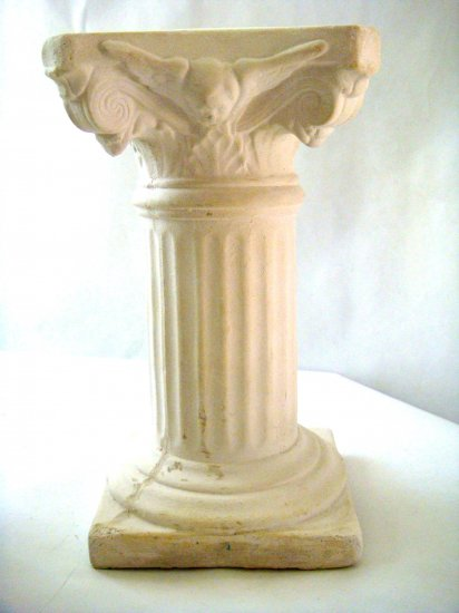 White Plaster Cast Architectural Column