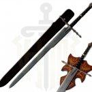 Damascus Nazgul Ringwraith Sword with Plaque & Sheath-LOTR Swords
