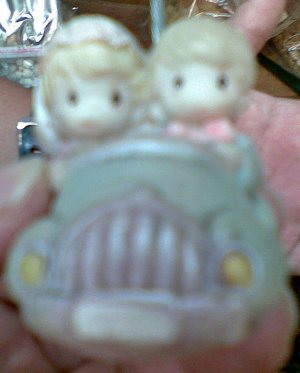 Mini Precious Moment Newly Wed Car Wedding Favor