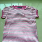 Ralph Lauren Pink Stripy Girls Top