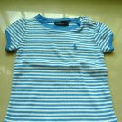 Ralph Lauren Stripy Girls Top (Blue)