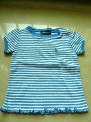 Ralph Lauren Stripy Girls Top (Blue)