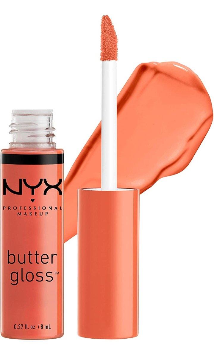NYX Professional Makeup Butter Gloss, Peach Crisp, 0.27 Fluid Ounce