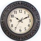 Tebery 12-Inch Silent Retro Quartz Clock, Decorative Wall Clock for Home/Office/School