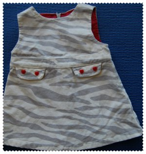 Gymboree Tiger Dress 3-6 m Gently Used