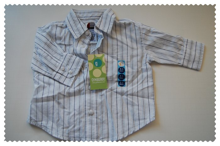 Gymboree Baby Boys Long Sleeved Dress shirt size 0-3 months NWT