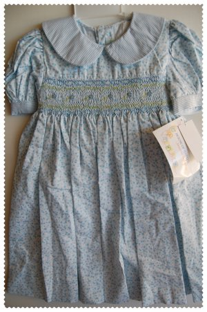 House of Hatten Light Blue Smock Dress size 24 months NWT