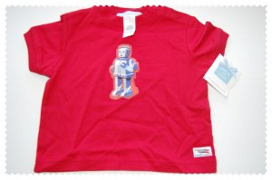 Janie and Jack Robot Tee 3-6 months NWT