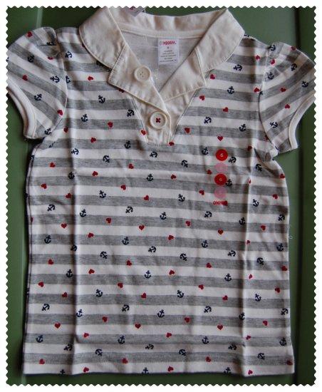 Gymboree Bon Voyage Girls Collar Shirt size 4 NWT