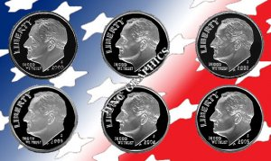2000 - 2005 S Rosey Silver Proofs *Nice Cameos*