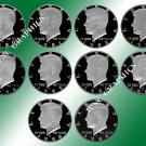 1980 - 1989 S Kennedy Proof Halves *Nice*
