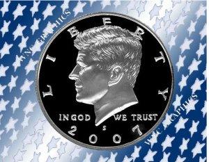2007 S Kennedy Clad Proof Half *Nice Cameo*