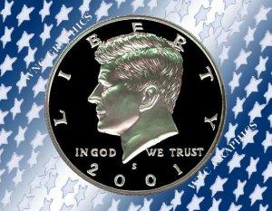 2001 S Kennedy Clad Proof Half *Nice Cameo*