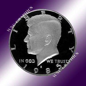 1985 S Kennedy Proof Half *Nice Cameo*