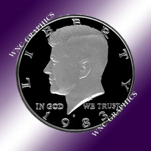 1983 S Kennedy Proof Half *Nice Cameo*