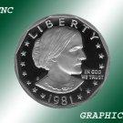 1981 S TY1 Proof Susan B. Anthony Dollar *Nice