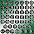 1960 - 2008 Jefferson Nickel Proofs-All 48 Nice Coins