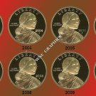 2003 thru 2010S Sacagawea/Native American Proof Dollars