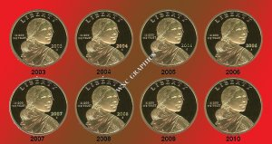 2003 thru 2010S Sacagawea/Native American Proof Dollars