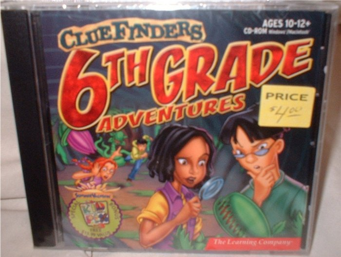 Clue Finders Adventures! Grade 6 CD for computer.  ***INCLUDES SHIPPING***