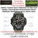 Details about  SMAEL 1545D Sport Watches For Men Dual Display Chronograph Wristwatches Shock