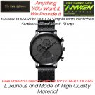 HANNAH MARTIN HM 109 Simple Man Watches Stainless Steel Mesh Strap
