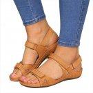 PUIMENTIUA Women Summer Open Toe Comfy Sandals Super Soft Premium Low Heels Wal