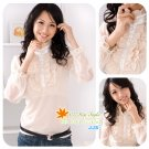 Lace Blouse-Beige