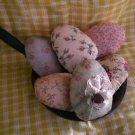 Easter Egg ornies-vintage style fabrics.