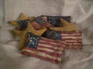 Americana Primitive Stars N' Stripes Ornies