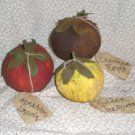 Primitive Folk Art Heirloom Tomato Ornies