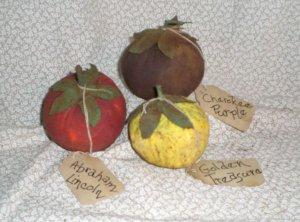Primitive Folk Art Heirloom Tomato Ornies
