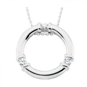 CZ circle pendant