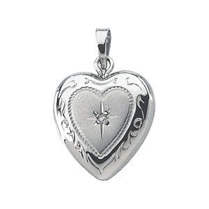 Heart Shaped Locket with Diamond