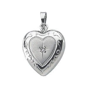 Heart Shaped Locket with Diamond