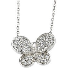 Cubic Zirconia Butterfly Necklace