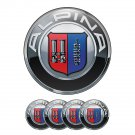 Set of 4 All Sizes Alpina High Quality 3D Domed Center Wheel Cap Stickers Emblems