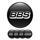 Set of 4 All Sizes BBS High Quality 3D Domed Center Wheel Cap Stickers Emblems