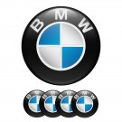 Set of 4 All Sizes BMW High Quality 3D Domed Center Wheel Cap Stickers Emblems