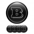 Set of 4 All Sizes Brabus High Quality 3D Domed Center Wheel Cap Stickers Emblems