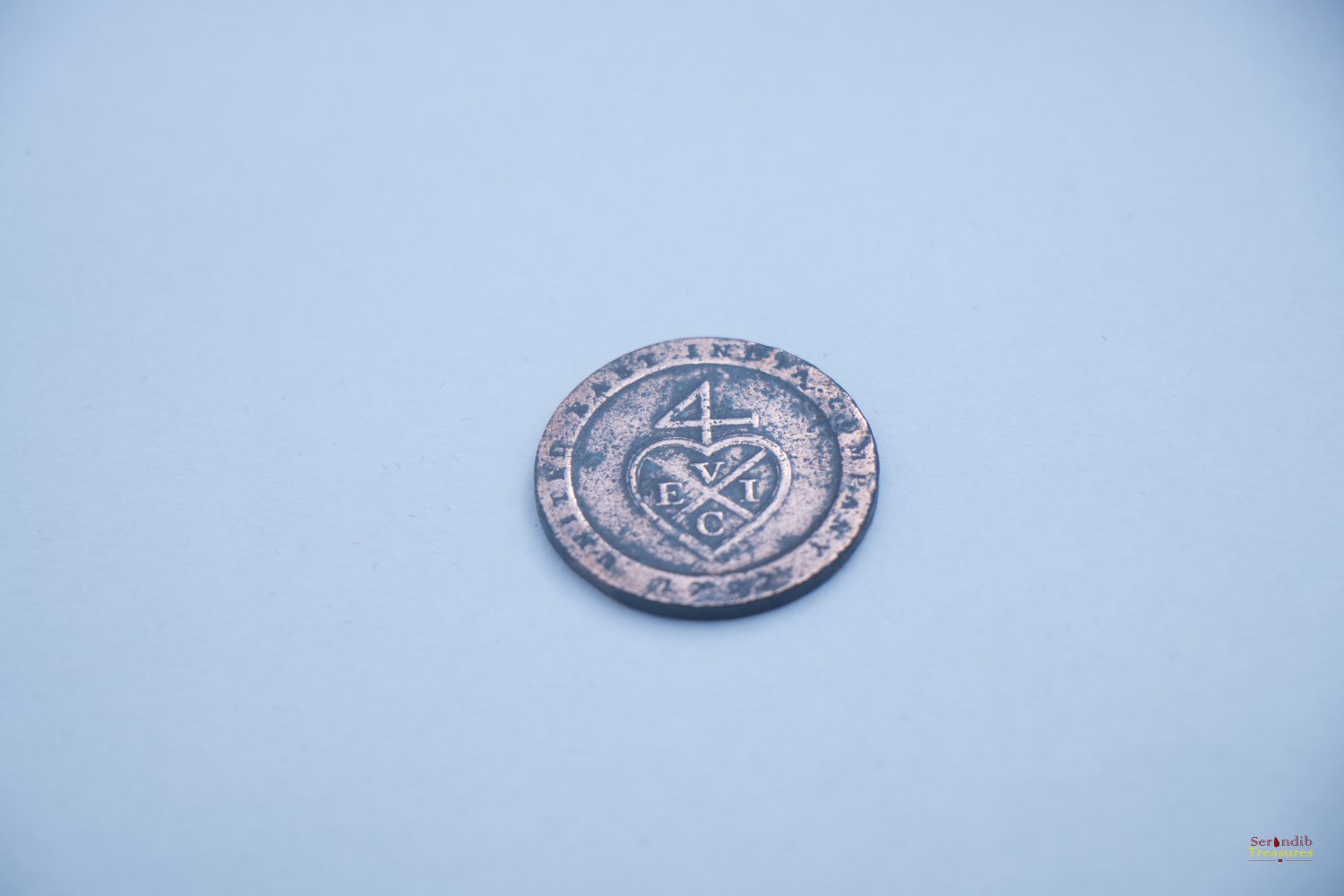 1797 Madras Presidency �Half Dub� coin. Dutch East India Company. 224 years old. Extremely rare.
