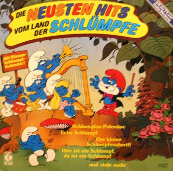 Die Neusten Hits, Vom Land Der Schlumpfe - The Smurfs, German Import Soundtrack LP/CD