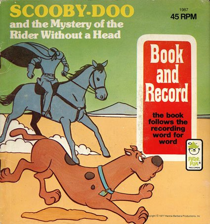 Scooby Doo And The Mystery Of The Rider Without A Head - Peter Pan Book & Record EP/CD