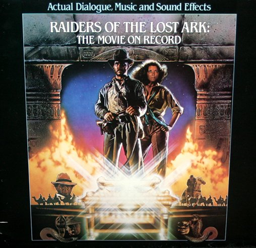 Indiana Jones and Raiders Of The Lost Ark, Movie On Record - Story Soundtrack, John Williams LP/CD