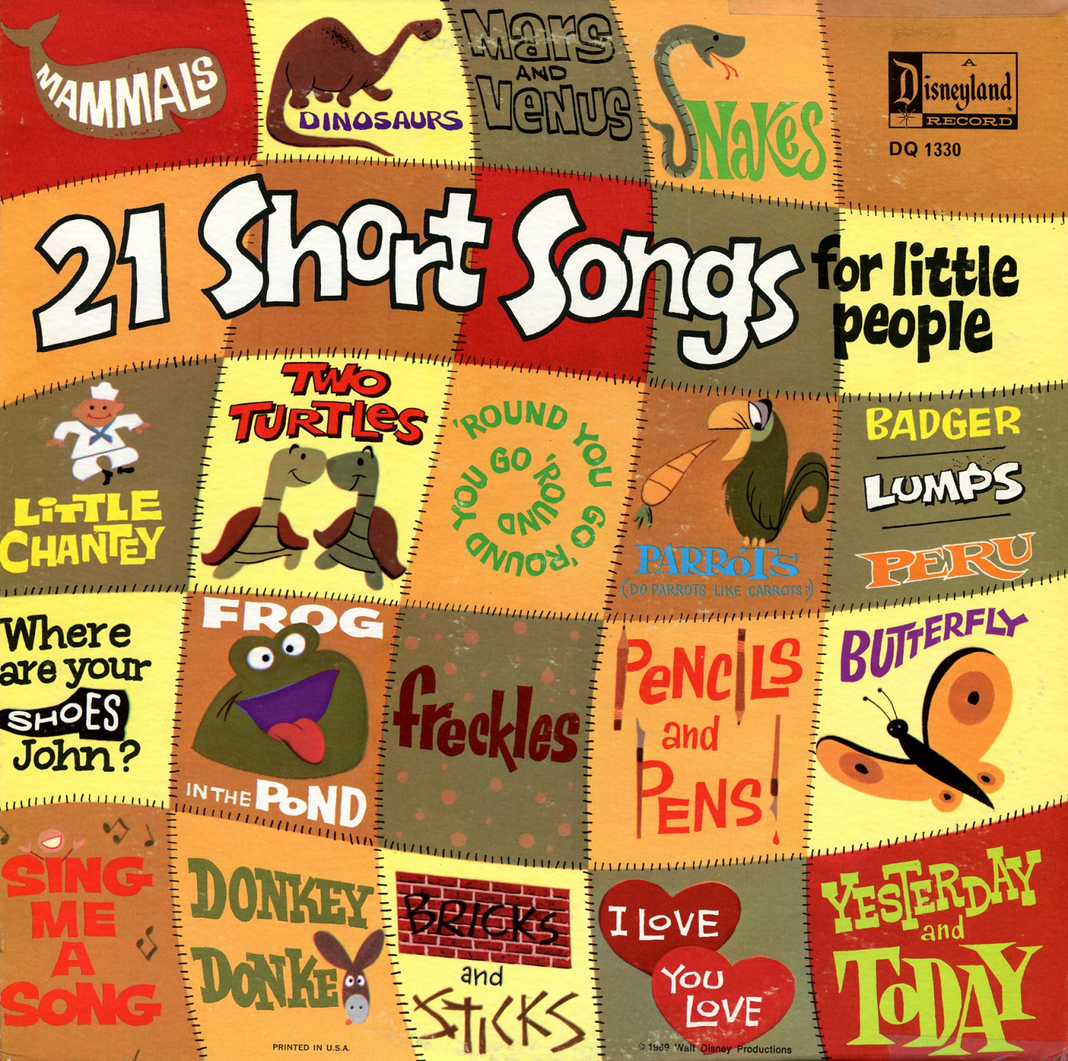 21 Short Songs For Little People - Disneyland Music Collection LP/CD